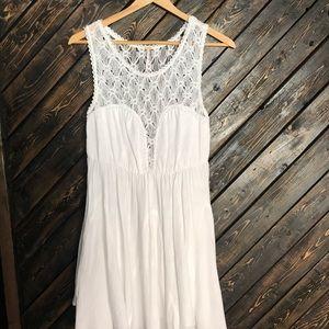 Like new Free People white lace summer sun dress